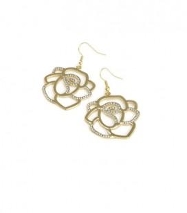 Lillekujulised kõrvarõngad kristallidega